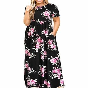 🆕 Plus Size Long Maxi Dress with Pockets